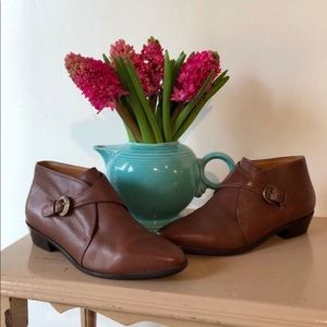 Vintage Ettienne Aigner Brown Leather Booties